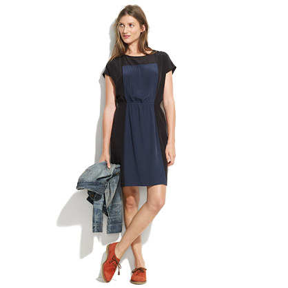 Pintucked Panel Dress