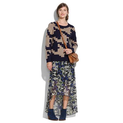 Flutter Trail Skirt in Brushstroke