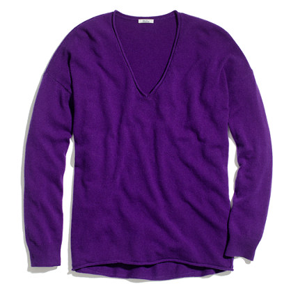 Rolled V-Neck Sweater