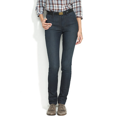 High Riser Jeans in Deep Water Wash