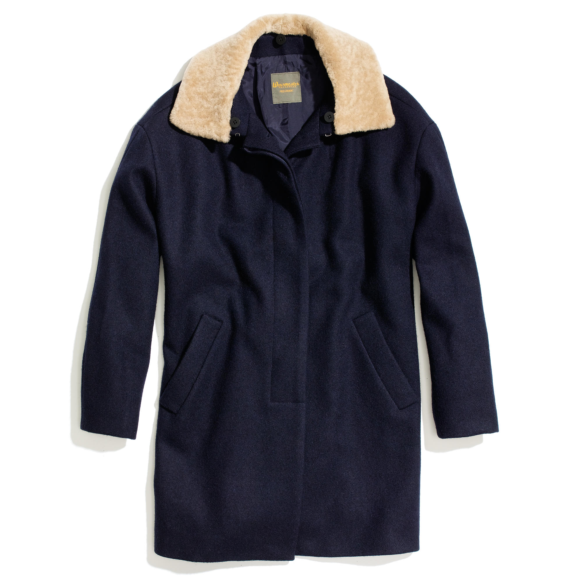 Shearling-Collar Coat : | Madewell