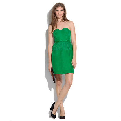 Strapless Emerald Dress : party perfect dresses | Madewell