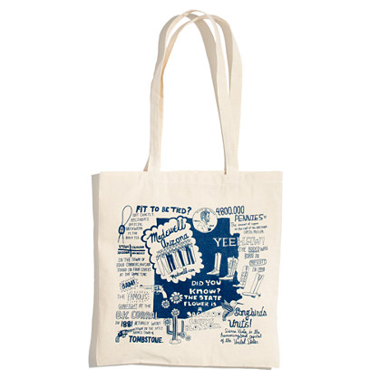 Illustrated Stateside Tote