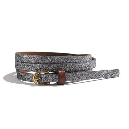 Glitter Skinny Belt