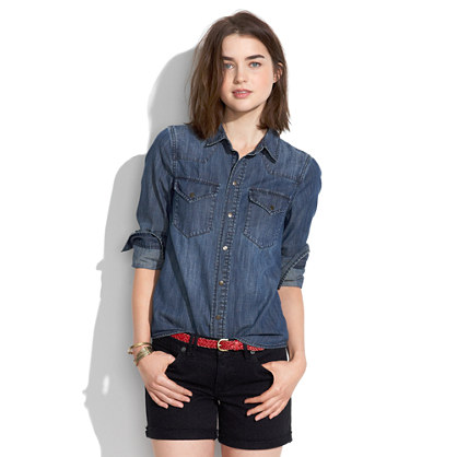 Western Jean Shirt in Nightsky Wash
