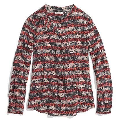 Silk Popover in Print Stripe