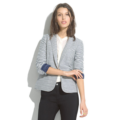 Tailored Blazer in Stripe
