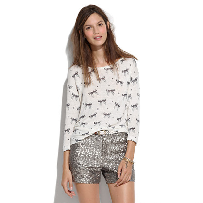 Laid-Back Tee in Bow Print
