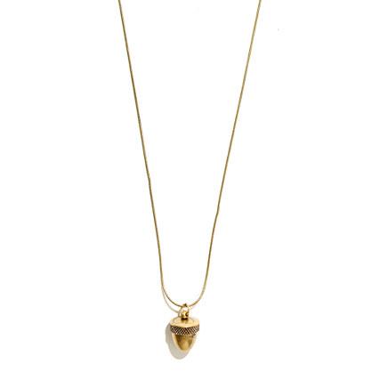 Acorn Locket Necklace