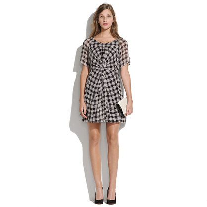 Silk Houndstooth Dress
