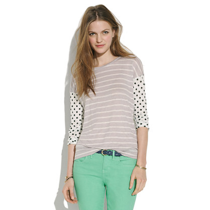 Easy Tee in Dots & Stripes