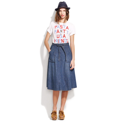 Denim Wrap Skirt : SKIRTS | Madewell