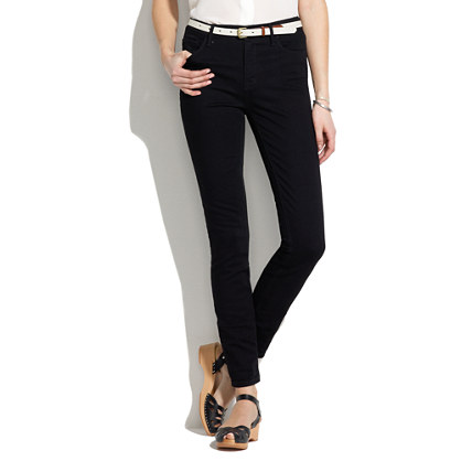 High Riser Skinny Skinny Ankle Jeans in Black Frost Wash : high ...