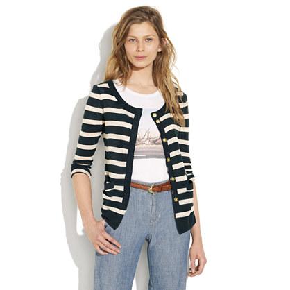 Striped Gardengate Cardigan