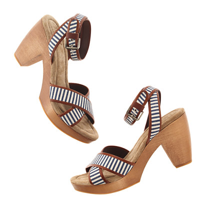 The Striped Journal Sandal