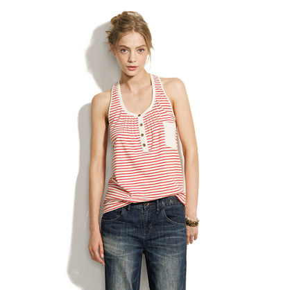 Striped Booklist Tank