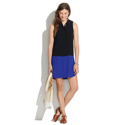 Sleeveless Tunic Dress in Colorblock