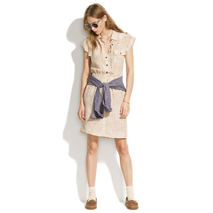 Silk Shadowspot Shirtdress