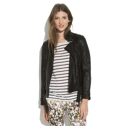 Belted Leather Bomber
