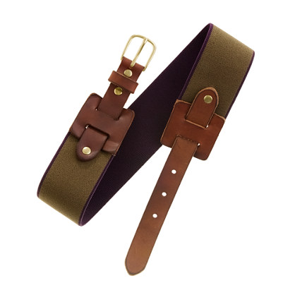 Stretchy Leather Bit Belt