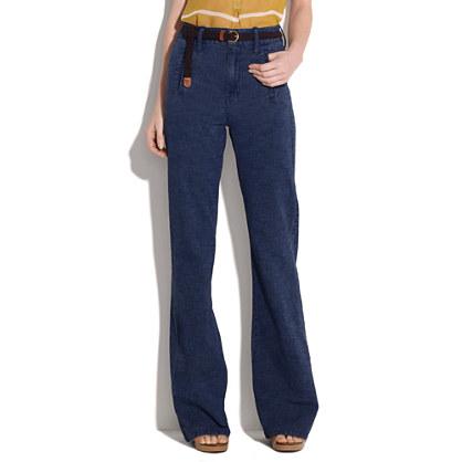 High-Waist Widelegger Jeans in Downpour Wash
