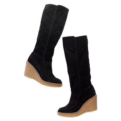 The Suede Hightower Boot with Extended Calf