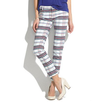See By Chloé® Tartan Straight-Leg Jeans