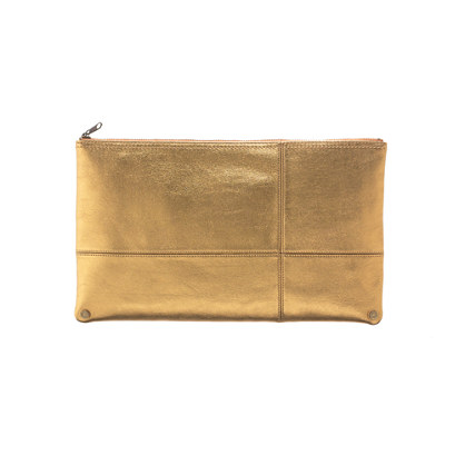 The Metallic Telegram Clutch