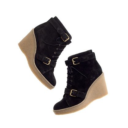 The Suede Wedge Bootie