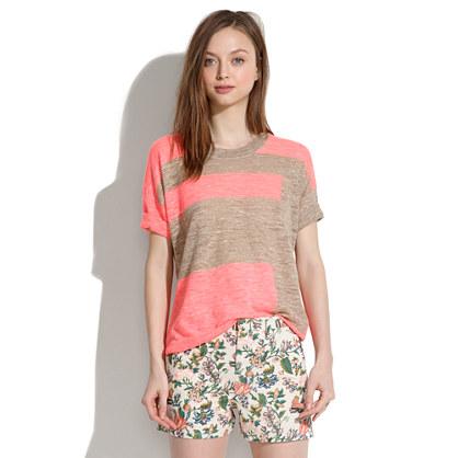Colorblock Tee Sweater