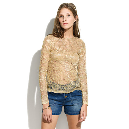 Alexa Chung for Madewell Gold Patrice Top