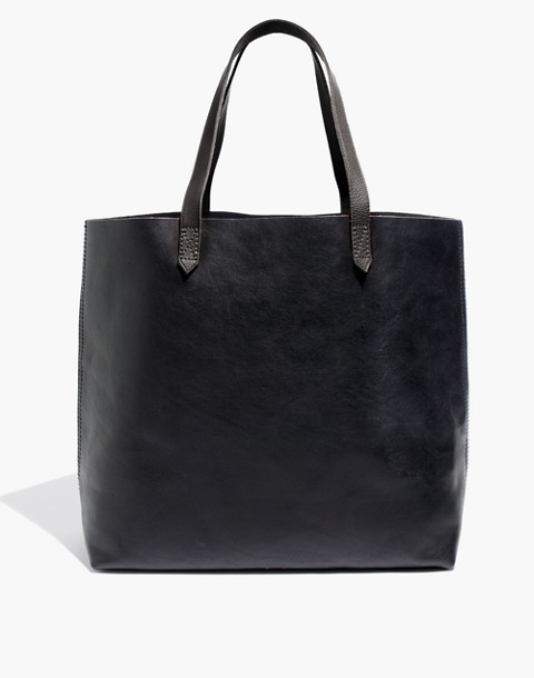 The Transport Tote in true black image 1