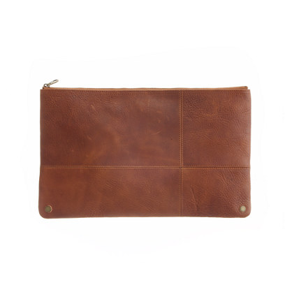 The Leather Telegram Clutch