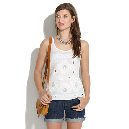 Embroidered Paisley Tank