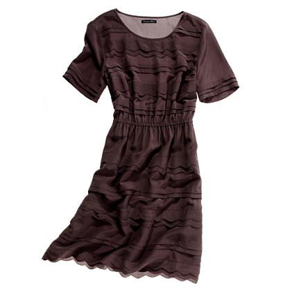 Silk Scallop-Wave Dress