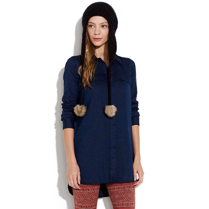 Buttonwood Indigo Tunic Shirt