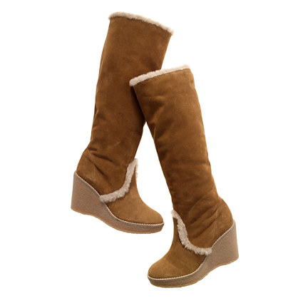 The Shearling Wedge Boot