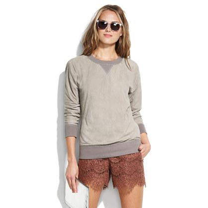 Suede Sweatshirt Pullover