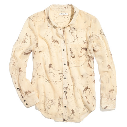 Silk Boyshirt in Sketchyard