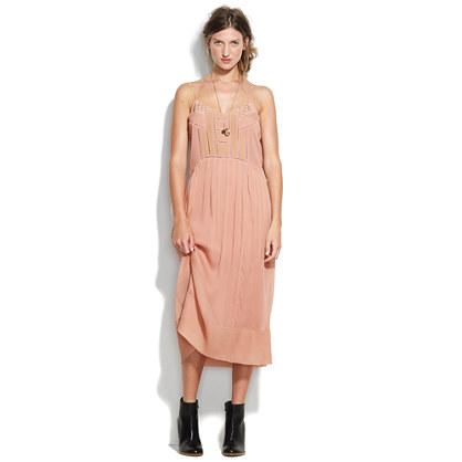 Stitchwork Silk Dress