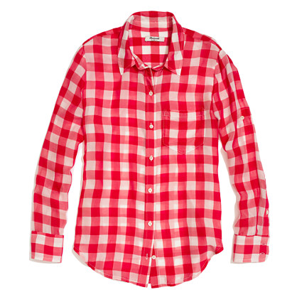 Silk Boyshirt in Gingham