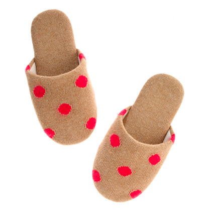 The Spotted Snowfall Slipper
