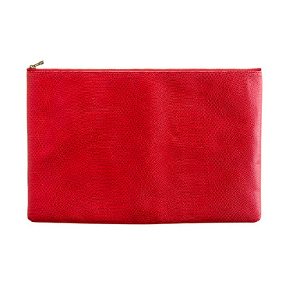 The Embossed Telegram clutch