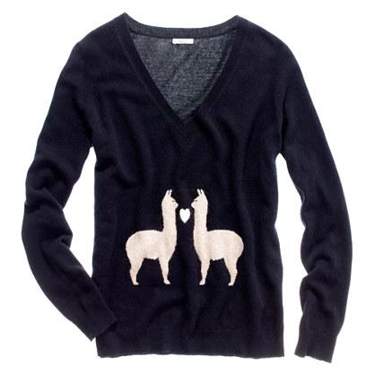 Llama Love Sweater