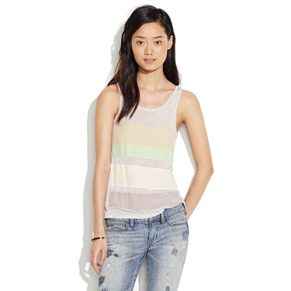 Silk Stripe Tank