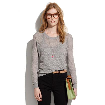 Studio Sweater in Diamond Stitch