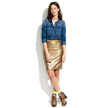 Sparkler Pencil Skirt