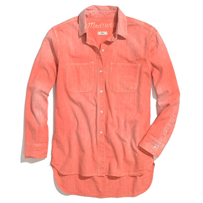 Perfect Chambray Ex-Boyfriend Shirt in Sunset