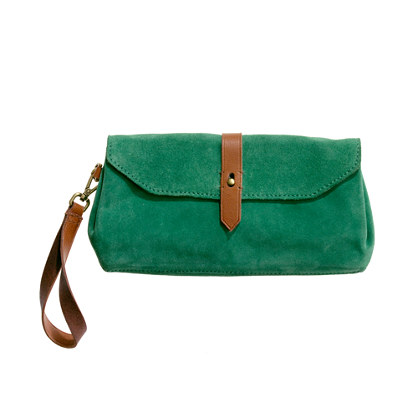 The Suede Passenger Clutch