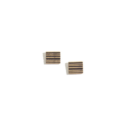 Engraved Stripe Studs